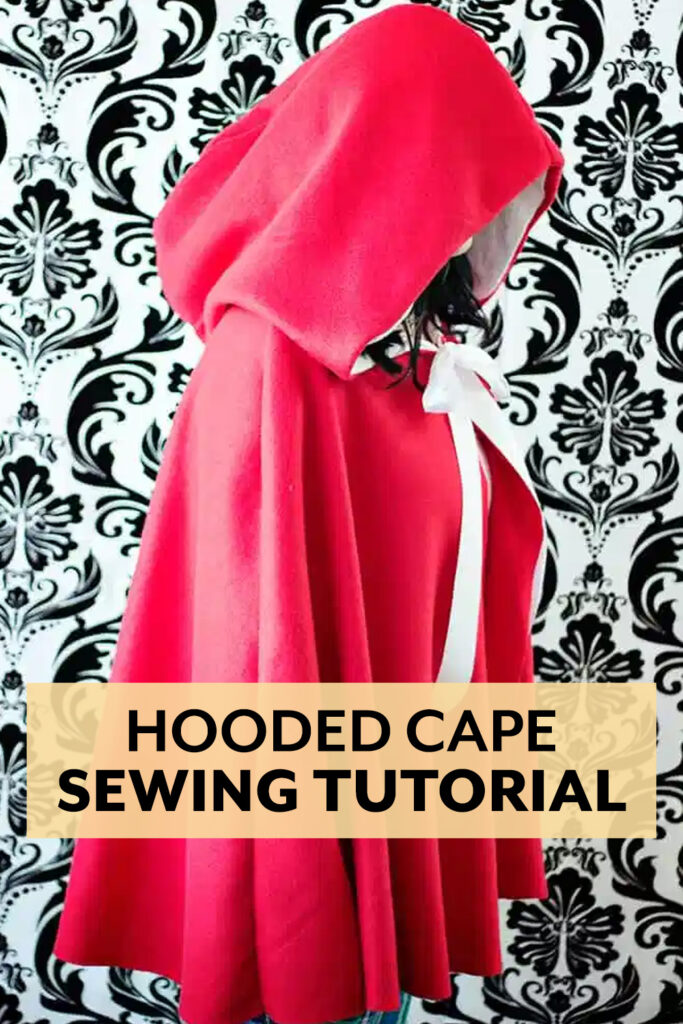 Sew up a Little Red Riding Hood cape for Halloween with this free pattern and sewing tutorial.