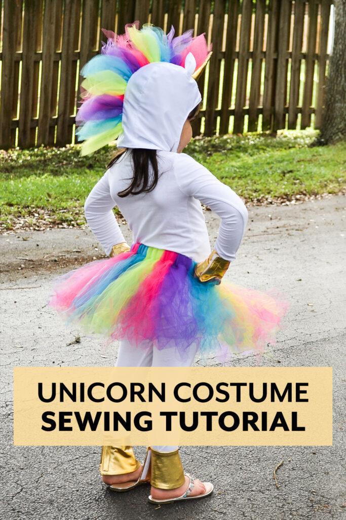 Sew a rainbow unicorn costume for Halloween