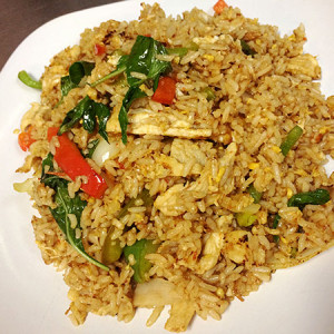 Chicken Basil Fried Rice