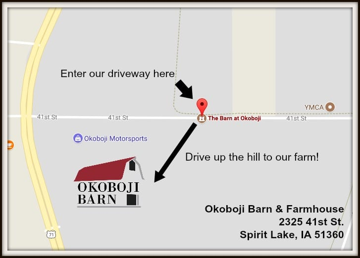 Map to the Barn