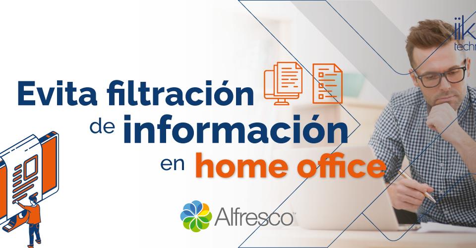 Evita filtración de información en home office