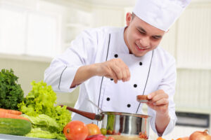 chef cooking with MSG