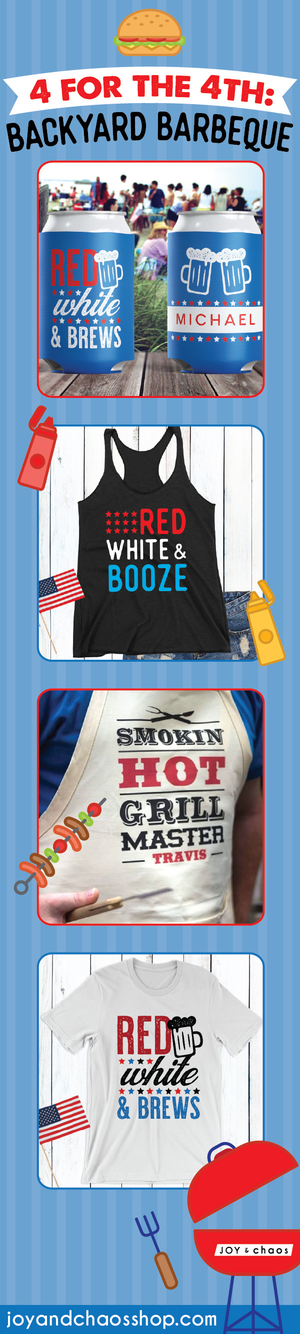 Custom 4th Of July Gifts: Backyard Barbeque Must-Haves