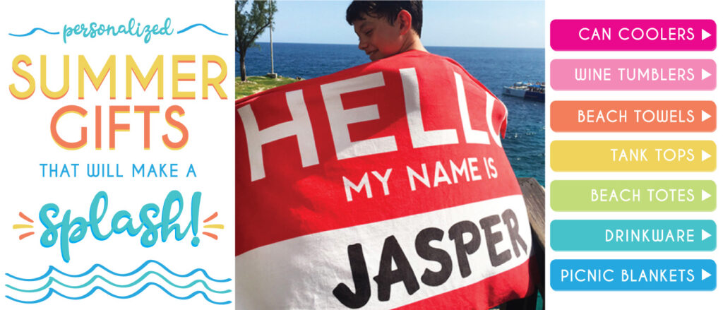 Personalized Beach Towels and Summer Gifts