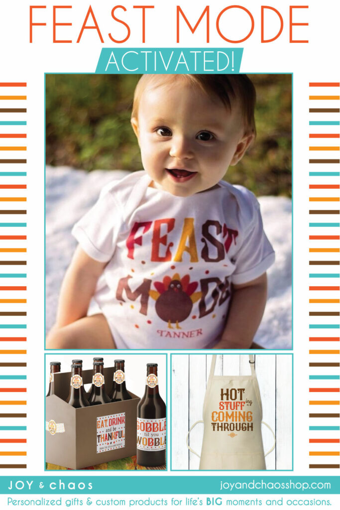 Personalized Thanksgiving Gifts for Baby, Party, Kitchen and Home Decor