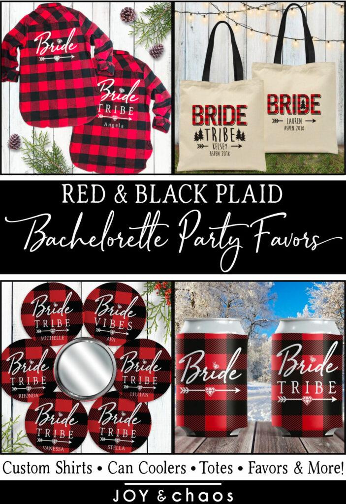 Custom Plaid Flannel Fling Bachelorette Party Favors