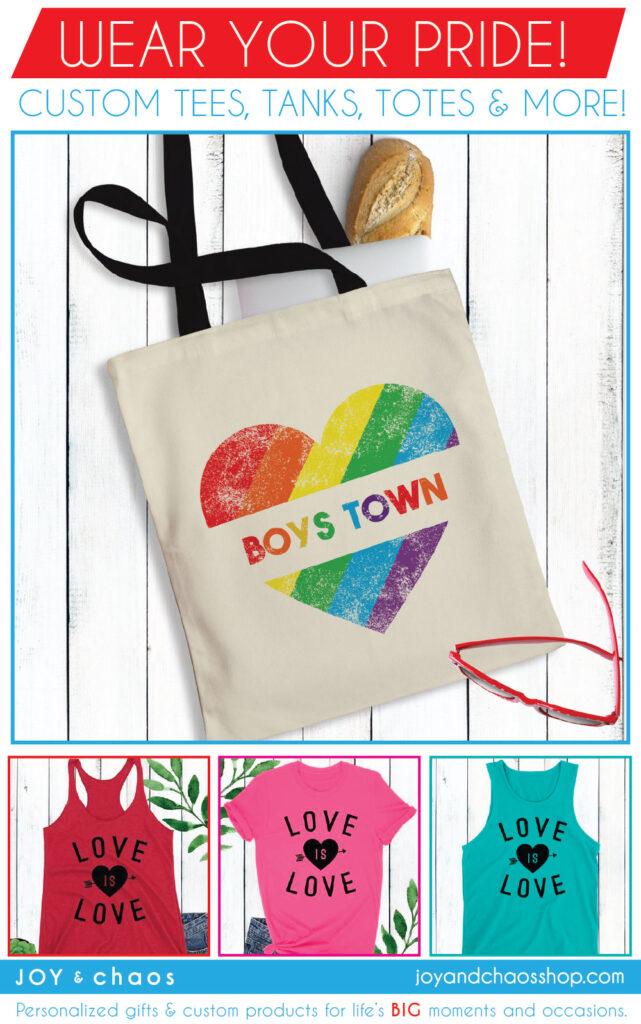 Custom Gay Pride Shirts and Totes