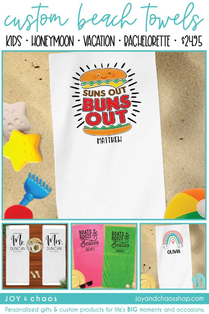 Custom Beach Towels for Kids and Adults