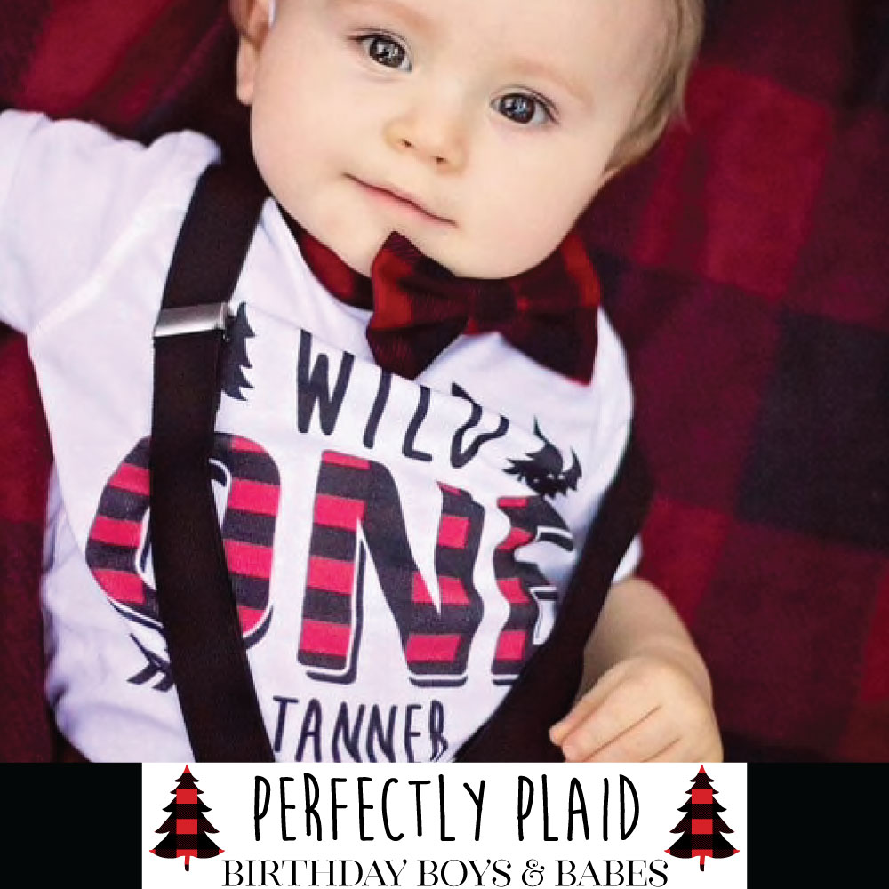 Personalized Plaid Baby Gifts