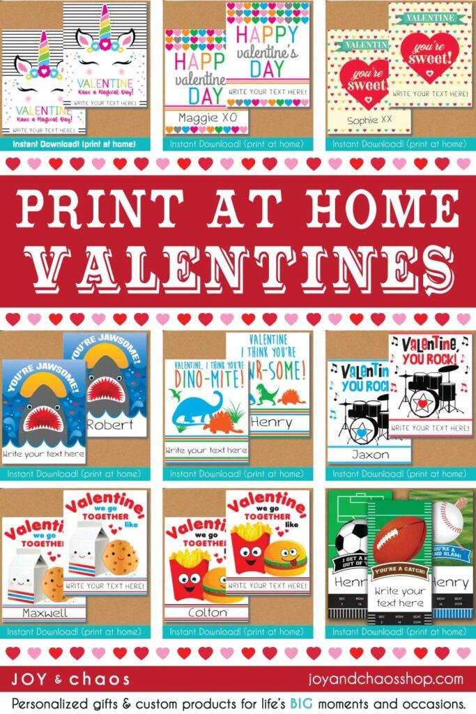 Printable Valentines for Kids - Digital Files