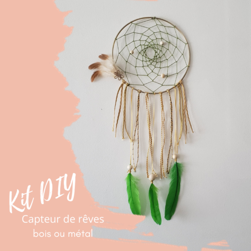 kit diy capteur de rêves tissage toile d'araignée par Papangue atelier créatif