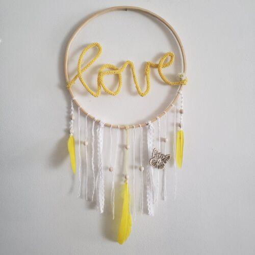 Capteur de rêve Love Papangue atelier créatif boutique