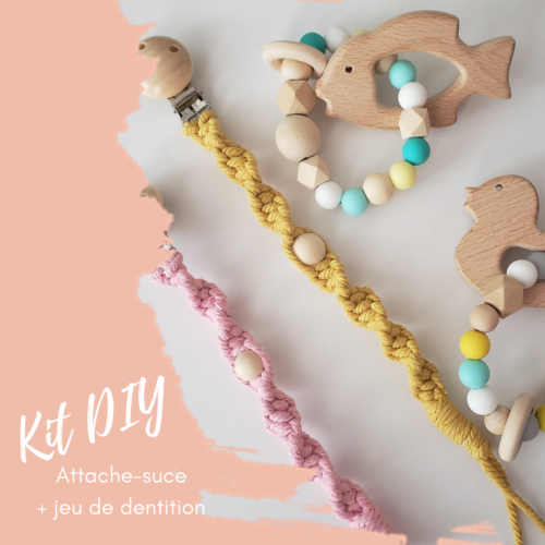 Boutique Papangue atelier créatif Kit DIY attache-suce et jeux de dentition pour bébé