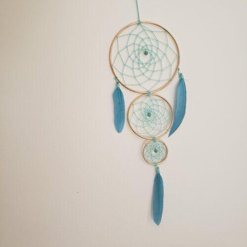 Boutique Papangue atelier créatif Capteur de rêves trio Blue