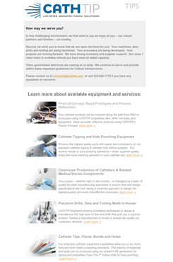 Catheter Tipping & Hole Forming Machines, Solutions & Services March 2020