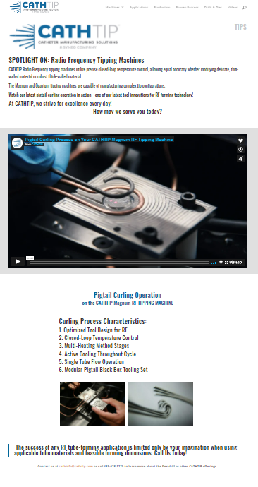 catheter tipping CATHTIP newsletter