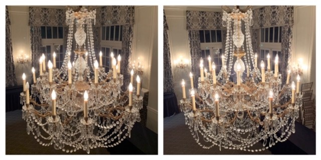 We clean chandeliers of all sizes