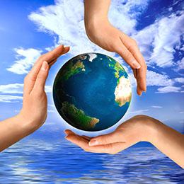 three hands Healing the world