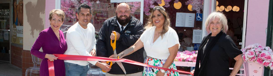 Pink Rose Café Ribbon Cutting Was a Lively Affair!