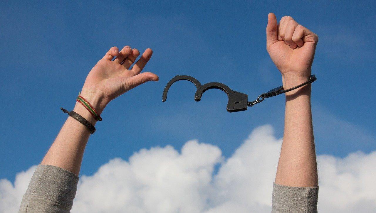 freedom, sky, hands