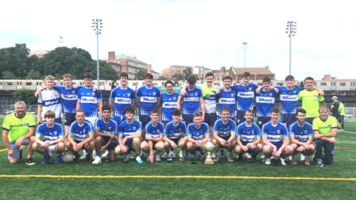The victorious Rangers side that one the New York U20 football championship Sunday