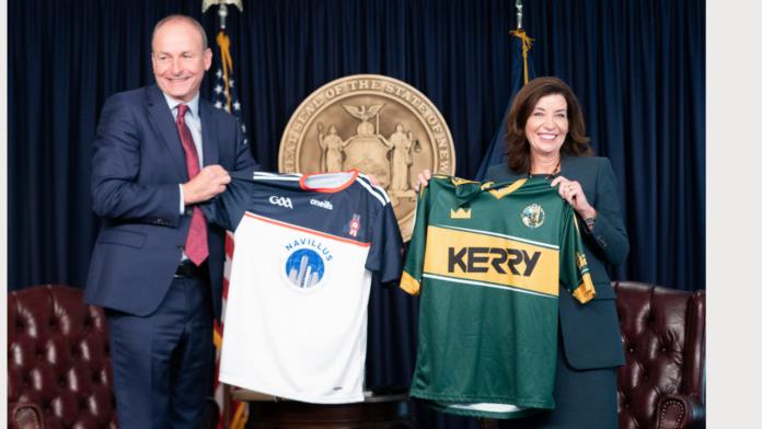 Governor Kathy Hochul meets with Taoiseach Micheál Martin of Ireland (photo Don Pollard Governor's Office)