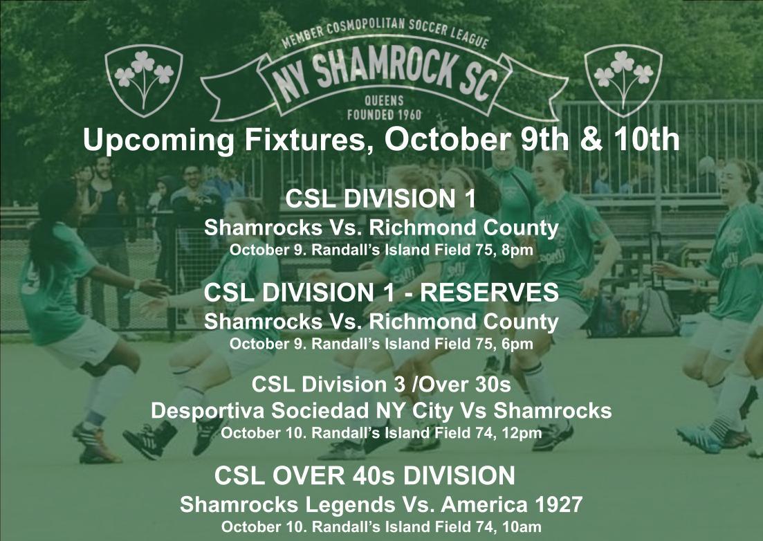 NY Shamrocks upcoming fixtures