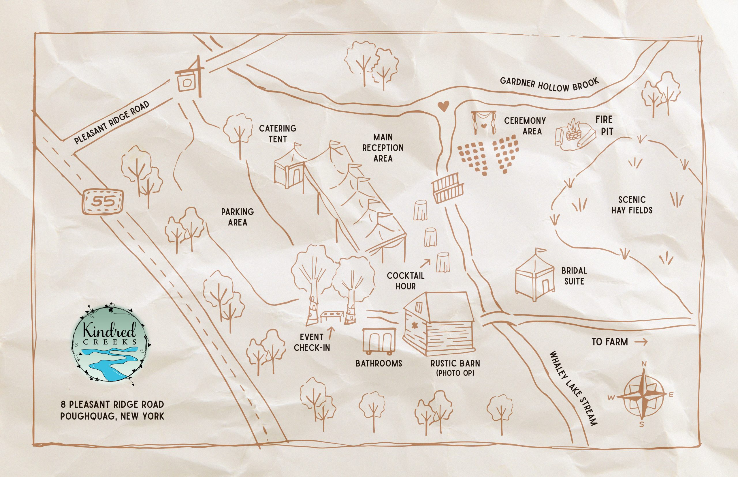 Map of Kindred Creeks Farm