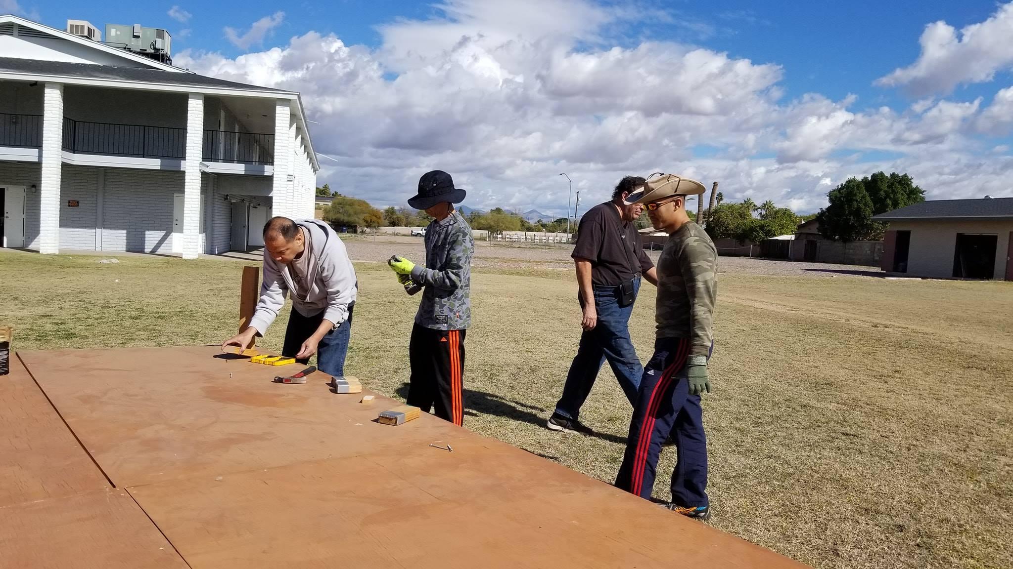 Fil-Am Church Arizona Men at Work 07