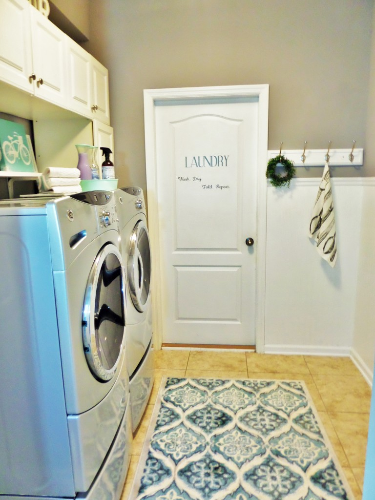 Spring Cleaning laundry Room