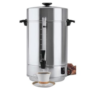 A Stainless Steel 100 Cup Maker