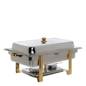 Stainless With Gold Trim 8 Qt