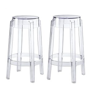 708 Clear Backless Bar Stools