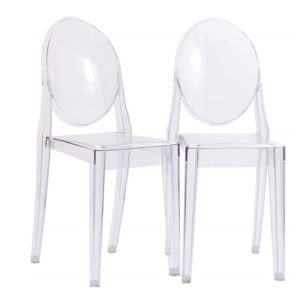 507 Clear Round Back Ghost Chair