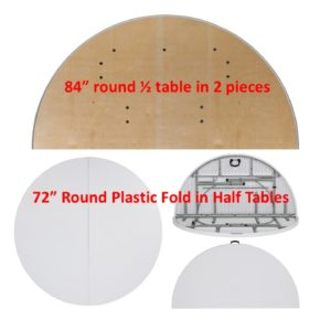208 Round Large Fold In Half Tables