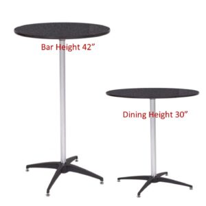 810 Finished Top Cocktail Tables