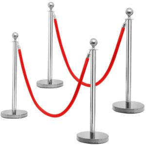 Chrome Stanchion And Ropes