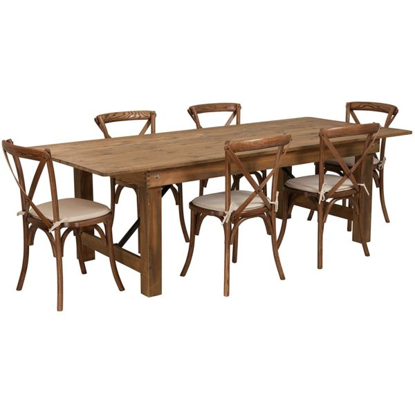 210 Farm Table Package With Chairs