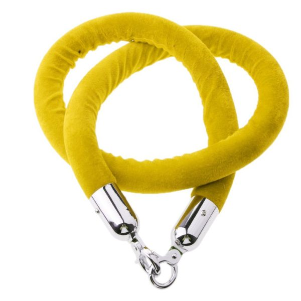 Stanchion Rope Yellow With Silver Tip