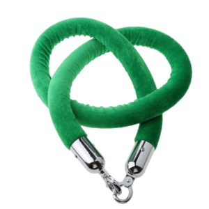 Velour Stanchion Ropes Green