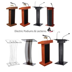Podiums And Lecterns With Mic