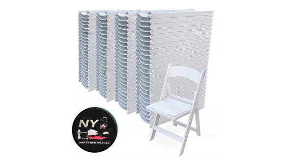 American Classic Folding Chairs Resin With Vinyl Padded Seat