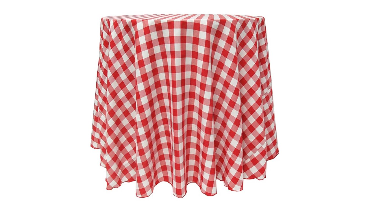 Check Tablecloth Red And White