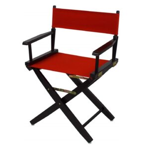 Directors Chairs 18 Inch Black Frame-with Red Canvas