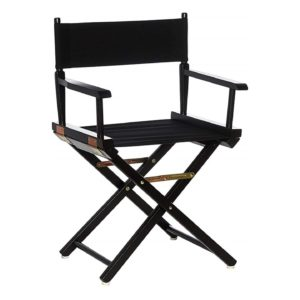 Directors Chairs 18 Inch Black Frame-with Black Canvas