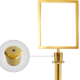 A2 Gold Stanchion & White Rope - Gold Sign Holder