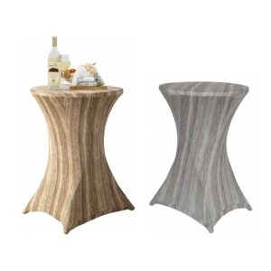 Printed spandex cocktail table covers