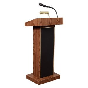 Podium with mic for rent