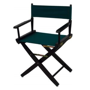 Directors Chairs 18 Inch Black Frame-with Green Canvas