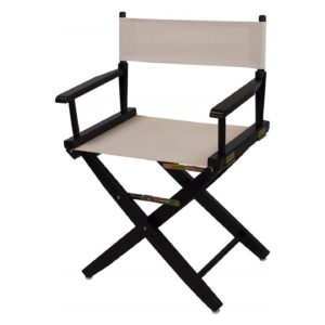 Directors Chairs 18 Inch Black Frame-with Natural Canvas
